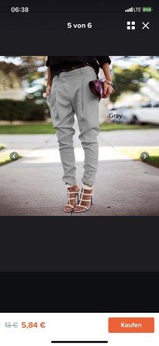 Pantalón boyfriend gris claro