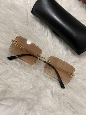 Okulary camel-złoto