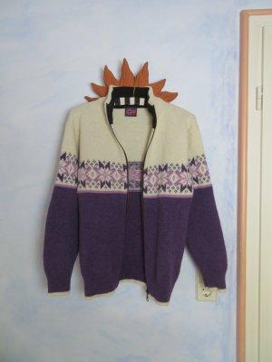 moderne traditionelle Norweger Strickjacke Troyer - Größe S - warme 100% Wolle Norwegen Strick Pullover - Vintage