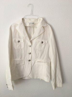 Moderne und schicke weiße Jacke, Blazer von Apanage; Designerjacke; Leinen