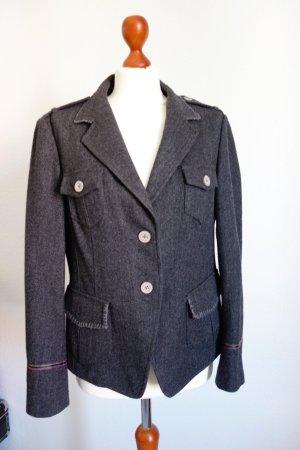 Blazer in lana grigio scuro Lana