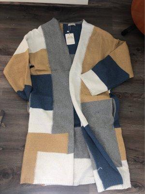 100% Fashion Gilet long tricoté multicolore
