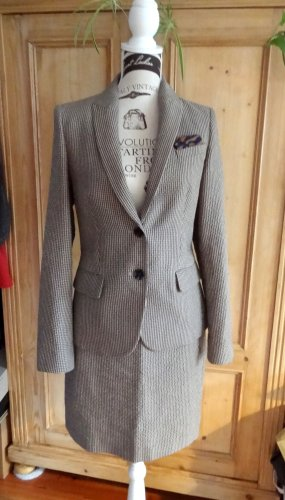 esprit collection Ladies' Suit oatmeal-dark brown polyester