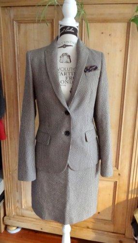 esprit collection Tailleur beige clair-brun foncé polyester