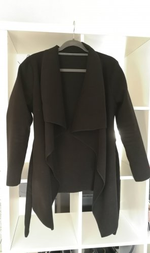 Moderner Mantel Wasserfallkragen gr. S-M