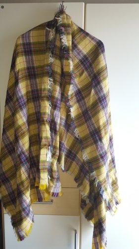 Mango Bufanda de flecos multicolor
