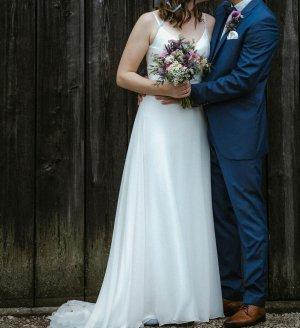 A Bela Noiva Abito da sposa bianco Tessuto misto