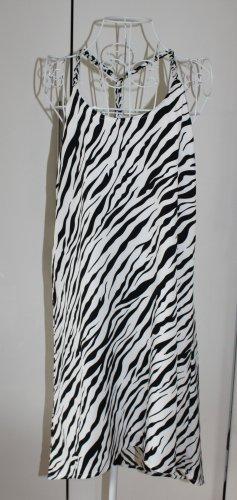 H&M Robe bas asymétrique noir-blanc