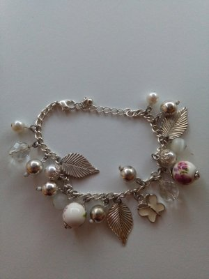 Charm Bracelet silver-colored-white