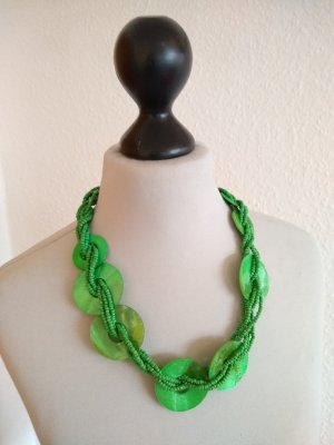 Modeschmuck - grüne Kette - kurz
