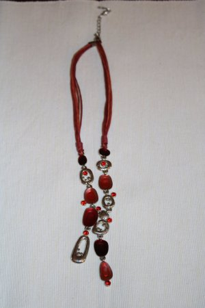 Necklace multicolored leather