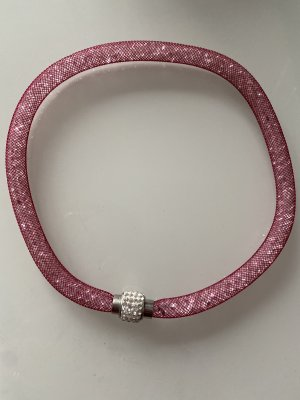 Necklace pink-raspberry-red