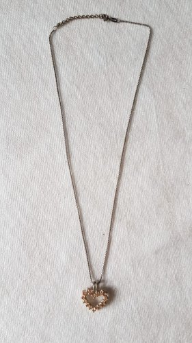Collana color carne-argento
