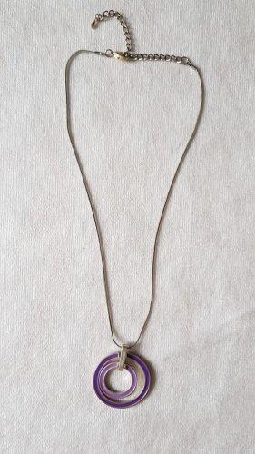 Collana argento-lilla
