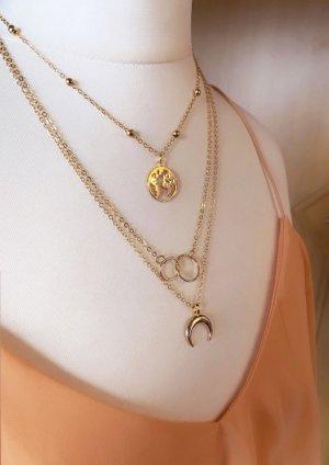Abendkleid Zdobiony naszyjnik złoto