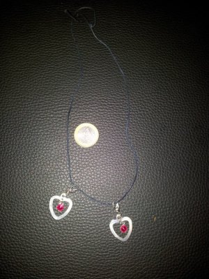Necklace silver-colored-pink