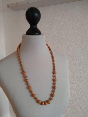 Modeschmuck - Perlenkette - braun