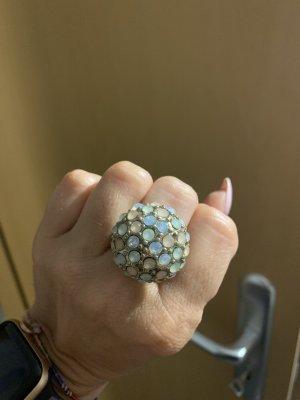 Bijou Brigitte Ring with Decorative Stone gold-colored