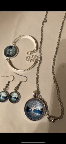 Modeschmuck set Kette Ohrringe Armband