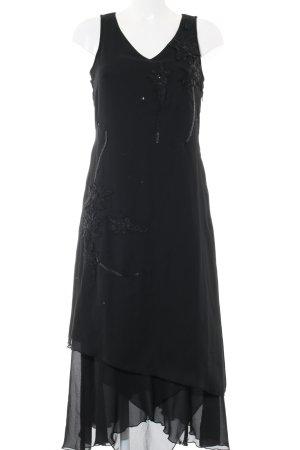 Modeszene Maxikleid schwarz Elegant
