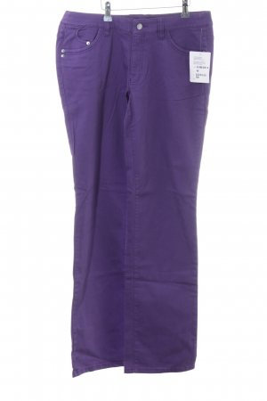 Modeszene Straight-Leg Jeans lila Casual-Look