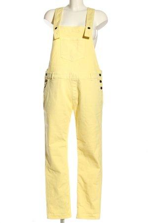 Modetrotter Salopette jaune primevère motif rayé style décontracté