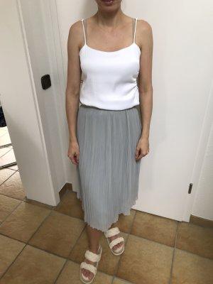 Zara Plisowana spódnica błękitny-szary niebieski