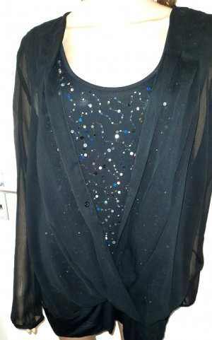 M&S Collection Oversized Blouse black