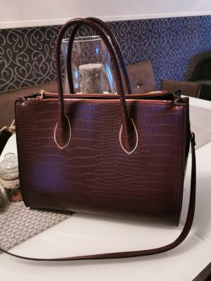 Modische Damen Handtasche in Kirschrot