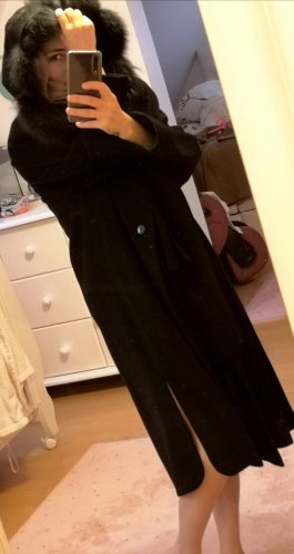 Geklede jurk zwart Angorawol
