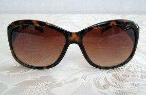 Modische Damen Sonnenbrille Vintage Style Braun Leo Verlauf UV 400