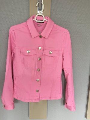 Modische Jeans-Jacke in rosa