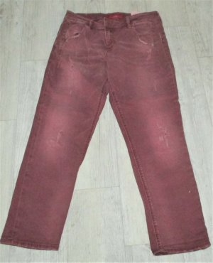 s.Oliver Jeans a 3/4 viola-bordeaux Cotone