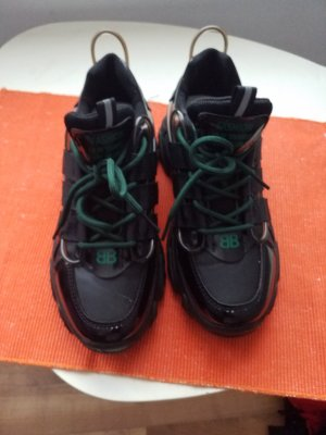 100% Fashion Sneakers met veters zwart
