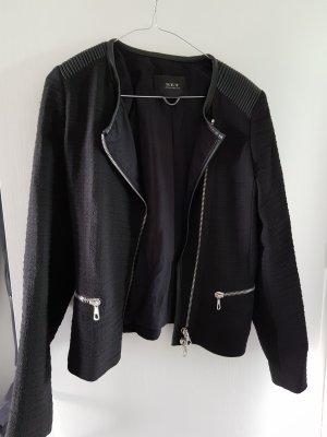 Set Blazer in jersey nero-argento