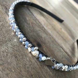 Cerchietto per capelli argento-grigio chiaro