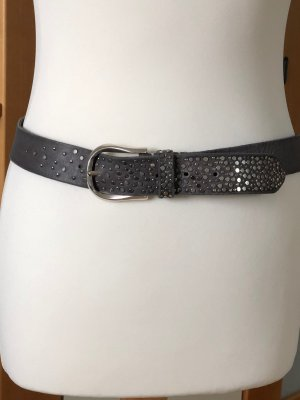 Leather Belt grey