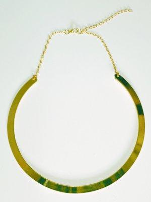 Modischer Halsreif goldfarben,