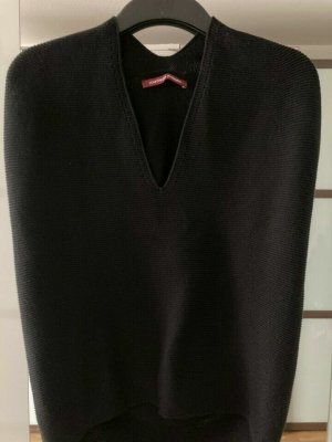 Comptoir des Cotonniers Sweter bez rękawów z cienkiej dzianiny czarny Bawełna