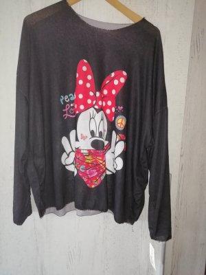 Modischer Schwarzer Minnie Mouse Pullover Gr.40-44-Neu