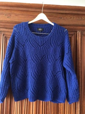 Be only Coarse Knitted Sweater blue synthetic fibre