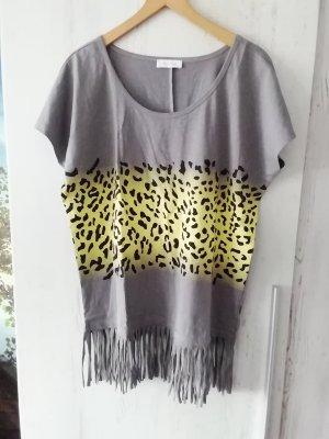 Aniston T-Shirt grey-yellow