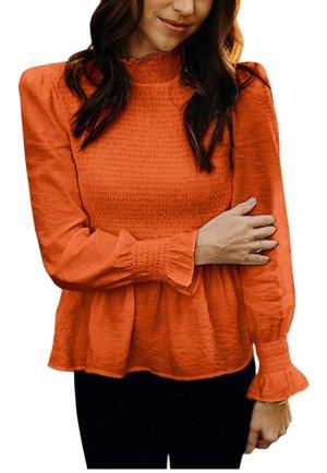 Top met franjes oranje Polyester