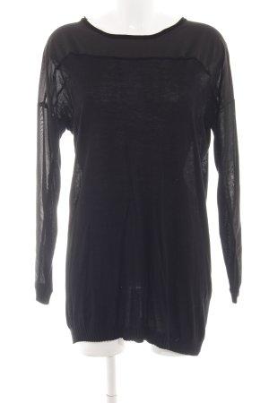 Modström Vestido camisero negro look casual