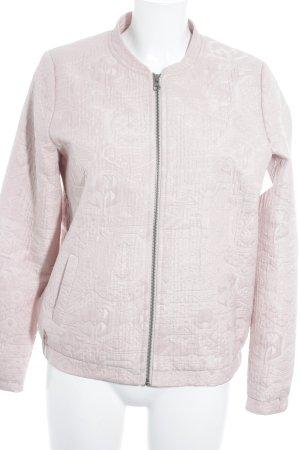 Modström Bomberjacke rosa Motivdruck Casual-Look