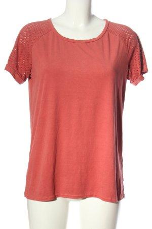 Modström Kurzarm-Bluse pink Casual-Look