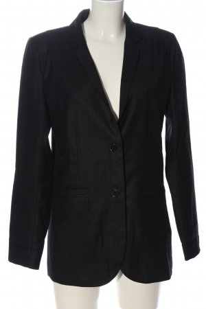 Modström Long-Blazer schwarz Business-Look