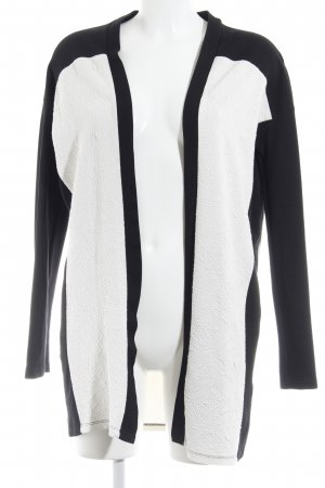Modström Long-Blazer schwarz-weiß Casual-Look