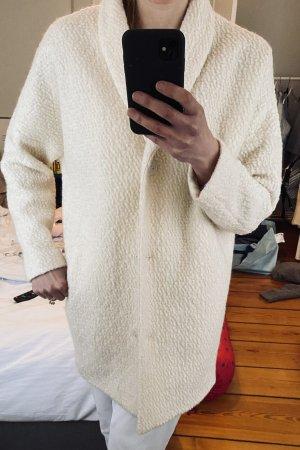 Modström Wełniany płaszcz w kolorze białej wełny