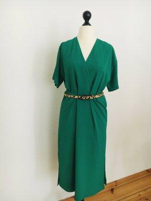 Modström Vestido camisero verde tejido mezclado